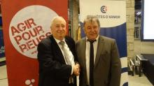 Thierry troesch président de la CCI 22 et Louis Noël , président de la CMA 22 ont présenté ensemble leurs voeux.