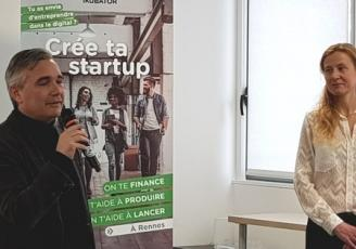 Alexandre Fourtoy, CEO d'1Kubator et Cécile Martin Directrice d'1Kubator Rennes