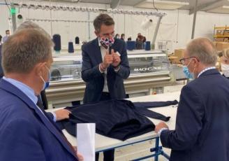 Inauguration de l'usine 3D-Tex à Saint-Malo le 24 septembre dernier en présence des élus de l'agglomération de Saint-Malo