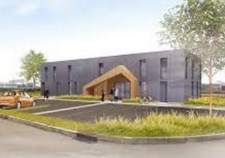 le bâtiment de 380m² livré en novembre dernier est en ossature bo
