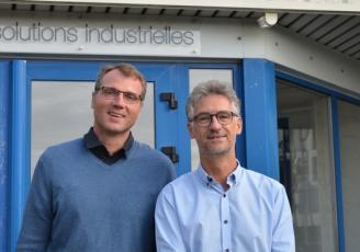Vincent Rault, Président d'Altenov (à gauche) et Eric Taburet , Directeur R&D