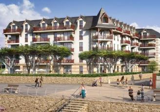 L'Amiral, l'ex-Grand Hôtel de Pléneuf-Val-André transformé en résidence touristique a démarré sa commercialisation. 49 logements du T2 au T4 sont mis en vente par Eiffage.