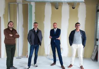 Frédéric Raultde Novatique, Lionnel Buannic et Rémi Lilette de LB Groupe, Michel Morvant de E-Declic.
