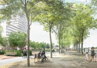 Porté par la Ville de Rennes et confié à l'aménageur Territoires Publics, le projet Baud Chardonnet a été dessiné par les urbanistes de l'agence Reichen et Robert & Associés et les paysagistes de l'Atelier Jacqueline Osty & Associés.
