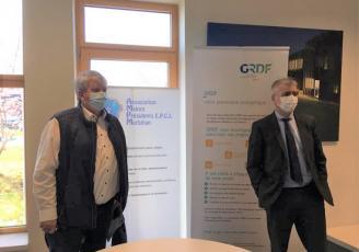 Yves Bleunven, président l'AMPM ) et David Colin, Directeur Territorial GRDF Bretagne