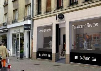La boutique nantaise, d'une surface de 75 m², reprend les codes qui ont fait le succès des boutiques Brieuc