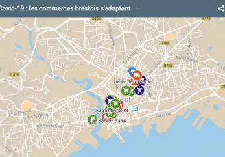 La ville de Brest actualise une carte interactive pour recenser les commerces ouverts
