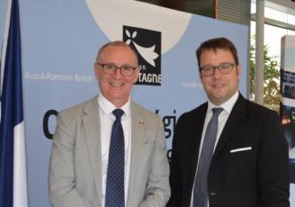 Jay Weatherill, premier  Ministre d'Australie du Sud et Loïg Chesnais Girard, Président de la région Bretagne