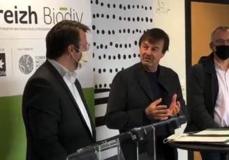 Loïg Chesnais-Girard, Président de la Région Bretagne, et Nicolas Hulot, Président d'honneur de la Fondation pour la Nature et l'Homme (FNH), ont officiellement lancé ce mardi 15 décembre 2020 la fondation Breizh Biodiv.