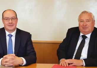 Stéphane Drobinsky , Directeur général de la CCI des Côtes d'Armor et Thierry Troesch, Président