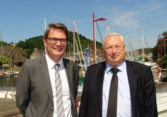David Derré nouveau directeur de la CCI des Côtes d'Armor au côté de Thierry Troesch , Président
