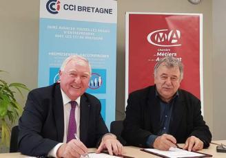 Jean-François Garrec, Pdt de la CCI Bretagne et Louis Noël, Pdt de la CMA Bretagne