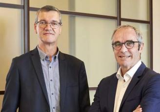 Hervé Le Floc'h, Président de Crédit Agricole en Bretagne et Jean- Yves Carillet, Secrétaire général