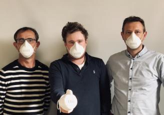 Didier Le Callonnec (Directeur R&D), François Ragot (Directeur Général) et Yann Guillermic (Directeur usine)