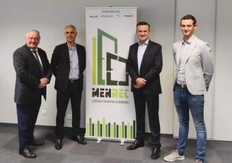 De g à d : Pierre Riou, Bruno Caduda, Dominique Lamballe et Adrien Bohelay