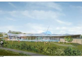 Parfaitement intégré dans son environnement naturel, le projet propose 4 pôles d'activités, couverts et extérieurs