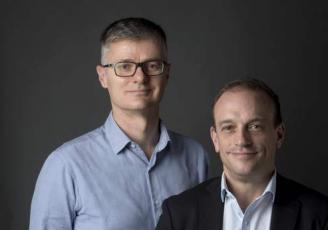 Nicolas Le Bars et Maxime Laizé codirigent l'entreprise de propreté Corser