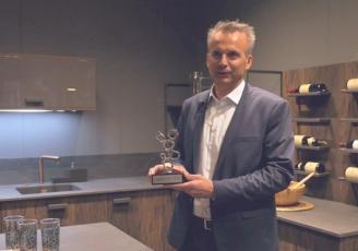 Stéphane Tréboux, dirigeant de Cuisine Morel a été primé lors du dernier Saddec à Paris pour sa collection Design industriel