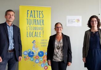De g à d : Malo Bouessël du Bourg, Directeur de Produit en Bretagne,  Marie-Laure Collet, Vice-Présidente au capital humain à Produit en Bretagne et dirigeante d'Abaka Conseil  Coralie Gourlay, Chef de Projet à Produit en Bretagne