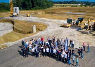 L'inauguration de la pose de la première pierre de l'unité de méthanisation territoriale d'Enerfées a eu lieu ce 1er juillet à Janzé