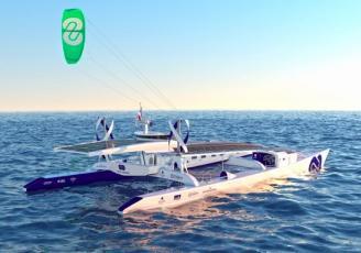 Energy Observer est le premier navire autonome en énergie et sans émission de gaz à effet de serre ni particules fines, propulsé aux énergies renouvelables