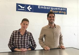 Depuis la Bretagne, Patricia Le Bouter et Yann Escudié pilotent les bureaux français de Factory Aviation, entreprise spécialisée dans le courtage aérien