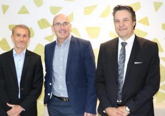 Franck Bertrand, secrétaire général / Olivier Desportes, Président / Christian Cerretani, directeur.