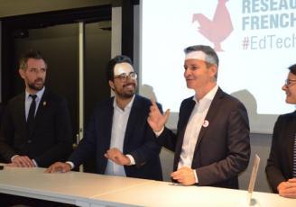 De G à D , François Bachelier, Mounir Mahjoubi et Emmanuel Couet