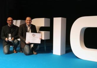 Primée au Forum International de la cybersécurité à Lille, Icodia est ici représentée de g à d par Emrik Cocault, Directeur développement et Raphael Angleraux, Directeur technique.