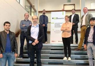 De haut en bas : Vincent LEGENDRE, M'Hamed DRISSI, Hugues SOMJA, Franck PALAS, Clémence LEPOURRY, Heng PISETH, Hervé FOLLIOT et Mohamed EL YAHYAOUI.