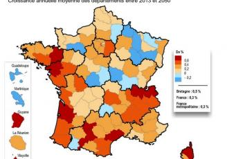 Au niveau national, entre 2013 et 2050, l'Ille-et-Vilaine enregistrerait la 4ème plus forte augmentation de population des départements