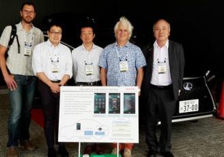 Toyota intègre t la technologie d'IoT.bzh dans un de ses  prototypes Lexus, ce pourquoi Fulup Le Foll était présent cette semaine  à Tokyo  aux côtés des équipes Toyota, Renesas & Iot.bzh . (Sur la photo, il apparaît en 2ème à partir de la droite).