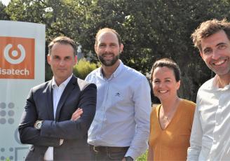 De gauche à droite : Pierre Scherer, Christophe Guirauton, Caroline Martin et Julien Leroy