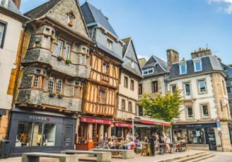 Centre ville de Lannion dans les Côtes d'Armor