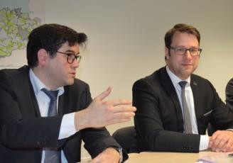 Gwenegan Bui, vice-président de Mégalis et Loïg Chesnais-Girard, Président de la Région Bretagne