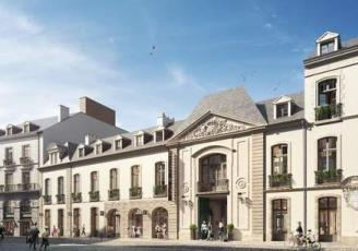 Façade de l'hôtel, rue de la Monnaie à Rennes
