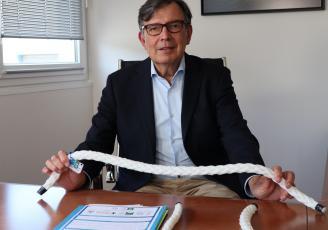 Max Dufour, directeur général de Le Drezen et inventeur du filet biodégradable LINC BioMer