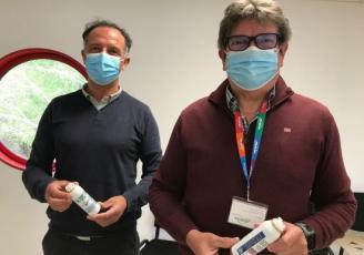 Olivier Bridaux, directeur commercial, et Marc Marot, directeur général, de l'entreprise Mc Bride à Rosporden.