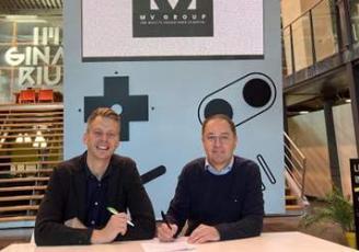 Julien Lemaire, fondateur et directeur de l'agence Tribu et Olivier Méril, Président de MV Group