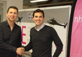 Franck Le Tulzo du Réseau Entreprendre Bretagne accompagnera  Jean-Sébastien Dy dans le cadre de la reprise de NHE Aero à Dinan