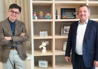Hervé Troali, nouveau directeur de l'activité cybersécurité chez Nji et Hugues Meili, pdg