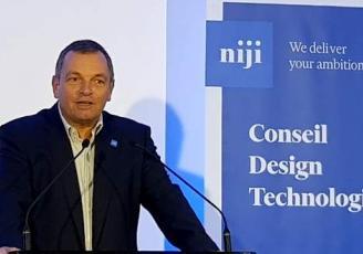 Hugues Meili, patron de Niji  a inauguré son nouveau siège ce vendredi, dans l'un des nouveaux immeubles du quartier d'affaires EuroRennes