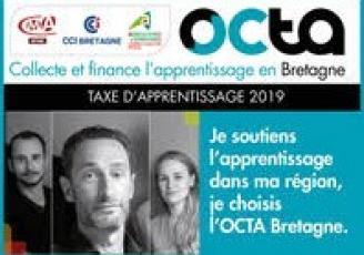 les Chambres de Commerce et d'Industrie, les Chambres de Métiers et de l'Artisanat et les Chambres d'Agriculture de Bretagne se sont associées en 2015 pour créer l'Octa Bretagne, l'unique organisme collecteur régional, tous secteurs d'activités confondus.