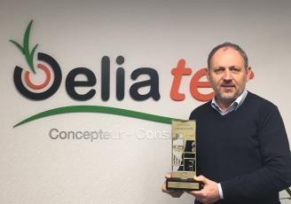 """Jean-Pierre Barré, fondateur et gérant  d'Oeliatec vient d'être récompensé par les """"Trophées de l'Innovation » du Carrefour des gestions locales de l'eau"""" dans la catégorie Eau et Biodiversité."""