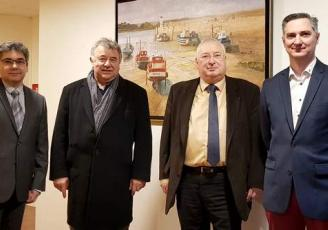 de g à d : Bruno Chevalier, Président de la CPME, Louison Noël, Président de la CMA, Thierry Troesch, Président de la CCI et Franck Perrin-Morel, Pdt de l'Upia Medef