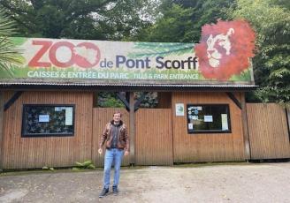 Sébastien Musset, nouveau propriétaire de feu le Zoo de Pont-Scorff rebaptisé Les Terres de Nataé.