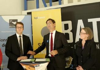 Chez Probat lancement du pass Flasch TPE en présence de Nicolas Dufourcq, Loïg Chesnais Girard et Valérie Gilette