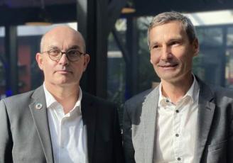 Loïc Hénaff et Malo et Malo Bouessël Du Bourg, respectivement Président et Direcetur de Produits en Bretagne