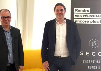 Christophe Merel, Délégué général de Secob aux côtés de Maël Jaffrelot, un des quatre associés de l'eclozr