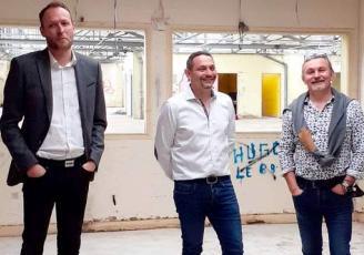 De g à d : Clément Letendre, Jean-Philippe Crocq et Emmanuel Crocq  les dirigeants du groupe Serafel.